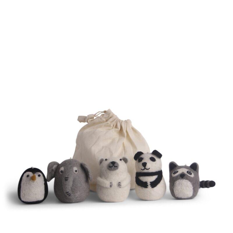 Zoo filtdyr i ren uld