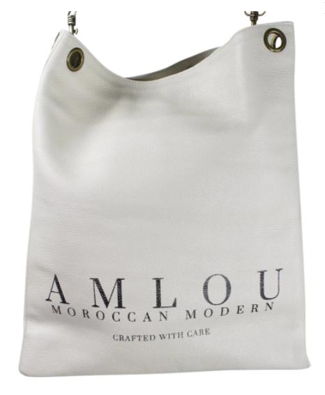 Karma Snow hvid lædertaske Amlou