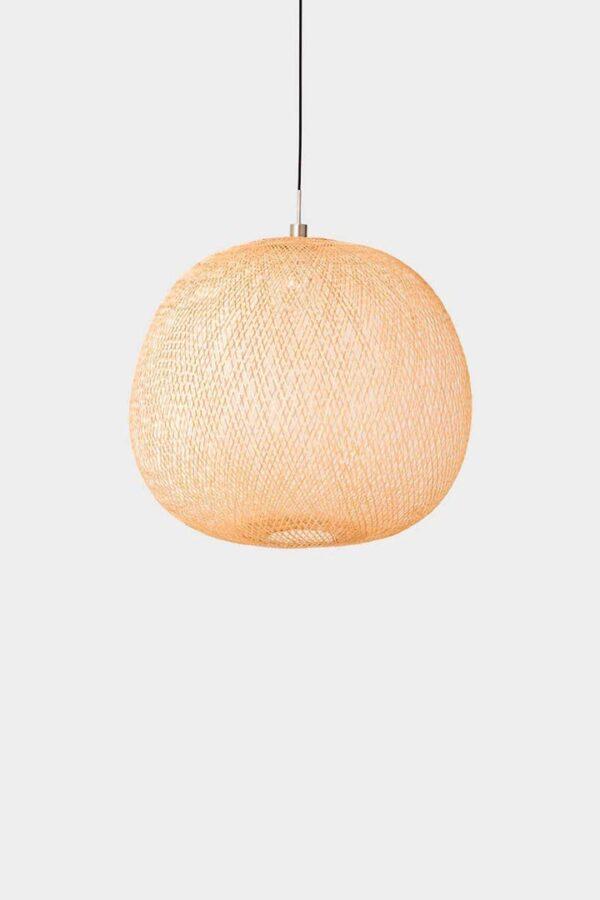 Plum medium bambuslampe AY