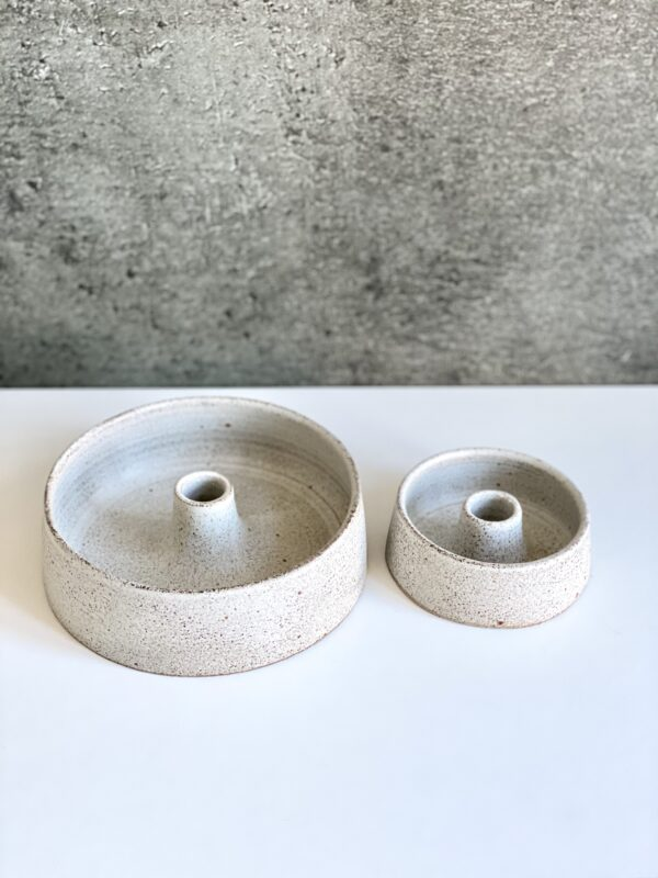 Viki Weiland keramik bowl lysestager