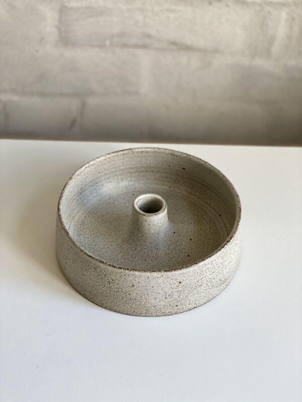 Candleholder bowl grey Viki Weiland keramik