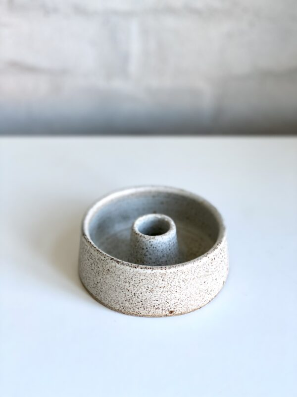 Small candle holder bowl grey Viki Weiland keramik