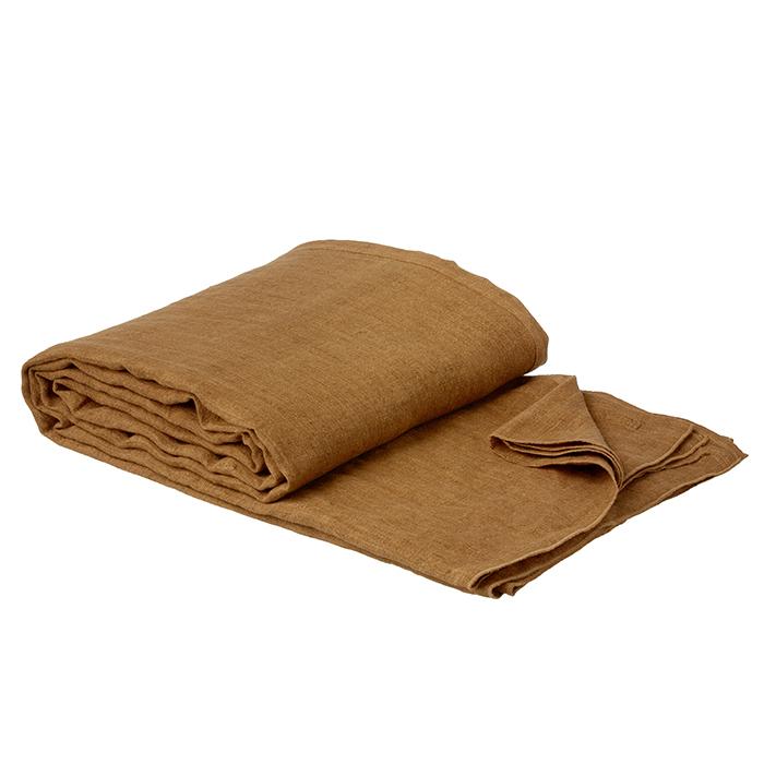Sengetæppe Linen Pecan Bungalow